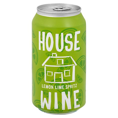 House Wine Lemon Lime Spritz Can Wine - 375 Ml