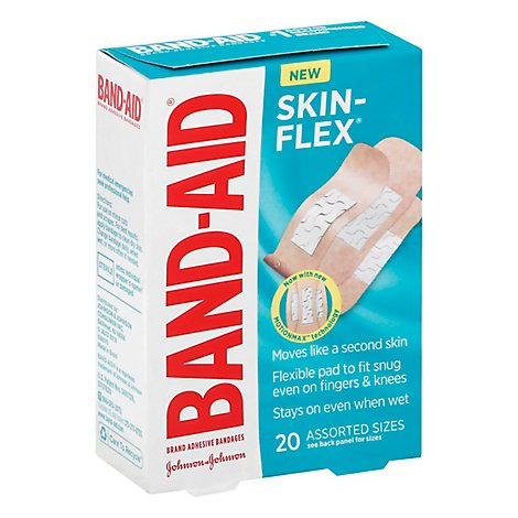Bandaid Skin Flex Assorted - 20 Count