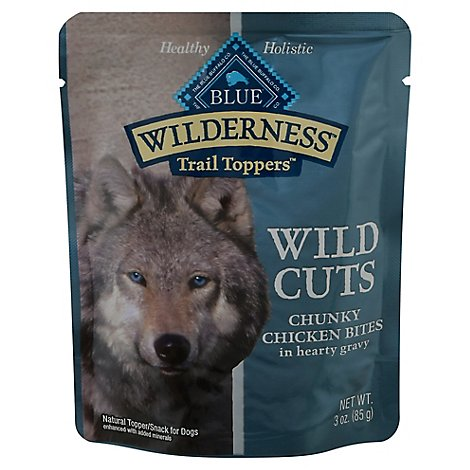 Blue Wilderness Wild Cuts Dog Trail Toppers Chunky Chicken Bites In Hearty - 3 Oz
