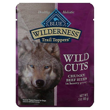 Blue Wilderness Wild Cuts Dog Trail Toppers Chunky Beef Bites In Hearty - 3 Oz