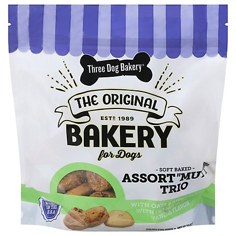 Three Dog Bakery Assortmutt 2lb - 32 Oz