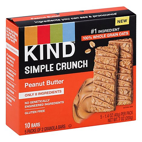 KIND Simple Crunch Granola Bars Peanut Butter - 7.05 Oz