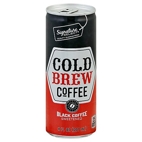 Signature Select Coffee Cold Brew Black Sweetened - 8 Fl. Oz.