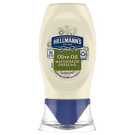 Hellmanns Mayonnaise Dressing With Olive Oil - 5.5 Fl. Oz.