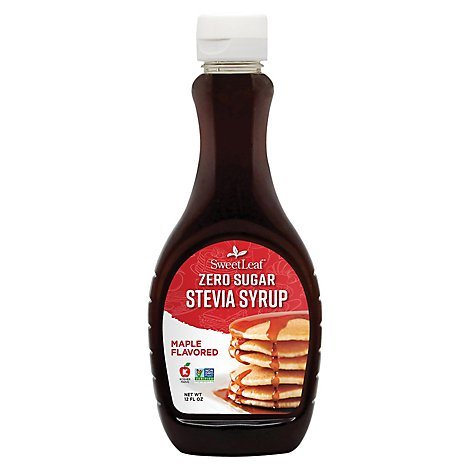 Sweetleaf Syrup Stevia Maple - 12 Oz