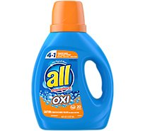 all Laundry Detergent Liquid With OXI Stain Removers And Whiteners 20 Loads - 36 Fl. Oz.