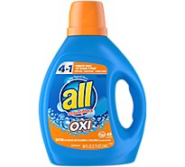 all Laundry Detergent Liquid With OXI Stain Removers And Whiteners 49 Loads - 88 Fl. Oz.