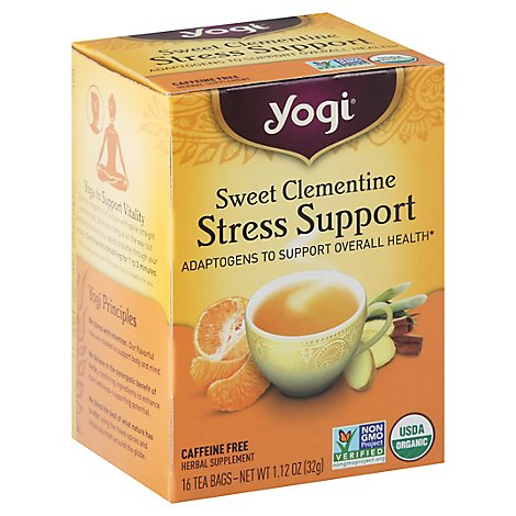 Yogi Teas Tea Slmntne Stress Supprt - 16 Count
