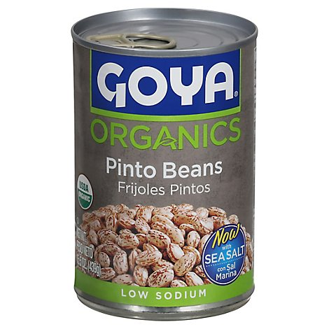 Goya Organic Low Sodium Pinto Beans Canned - 15.5 Oz