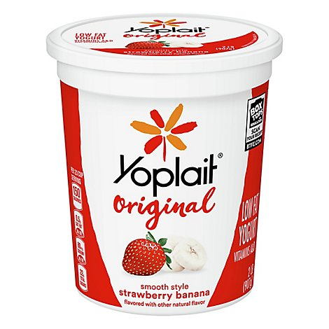 Yoplait Original Lf Ygrt Strwbry Banana - 32 Oz