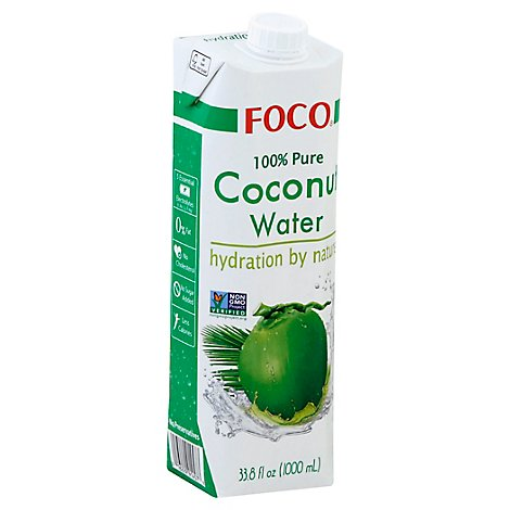 Foco Coconut Water Tetrapak - 33.8 Oz