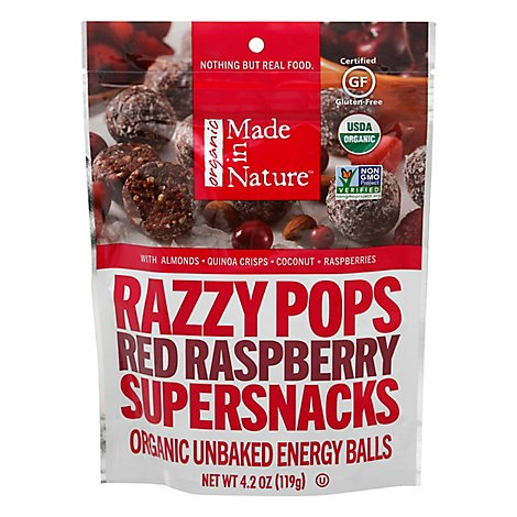 Made In Nature Snack Razzy Pop Org - 4.2 Oz
