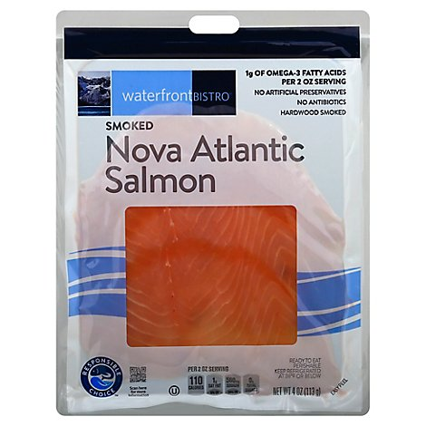 waterfront BISTRO Salmon Nova Atlantic Smoked Cold - 4 Oz