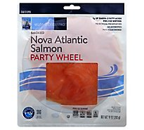waterfront BISTRO Salmon Nova Atlantic Smoked Party Wheel - 10 Oz