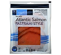 waterfront BISTRO Salmon Atlantic Pastrami Style Smoked Cold - 4 Oz