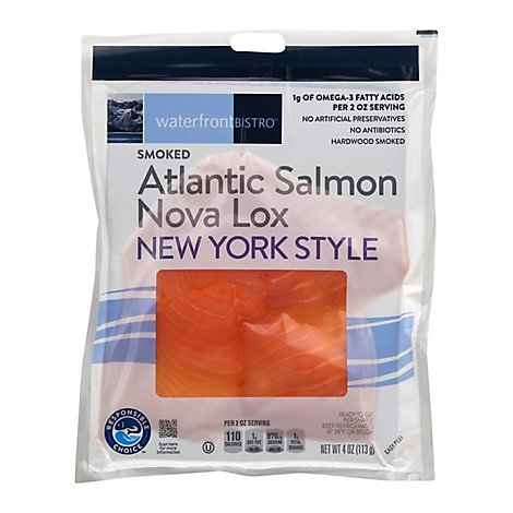 waterfront BISTRO Salmon Nova Atlantic Lox Ny Style - 4 Oz