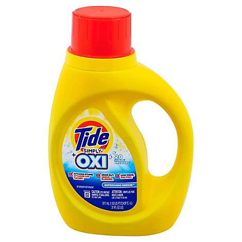 Tide Simply Laundry Detergent Liquid + Oxi Refreshing Breeze 20 Loads - 31 Fl. Oz.