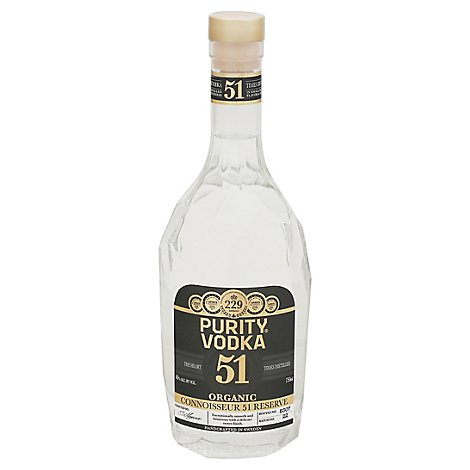 Purity Vodka 51 Times Distilled In Bottles 80 Proof - 750 Ml