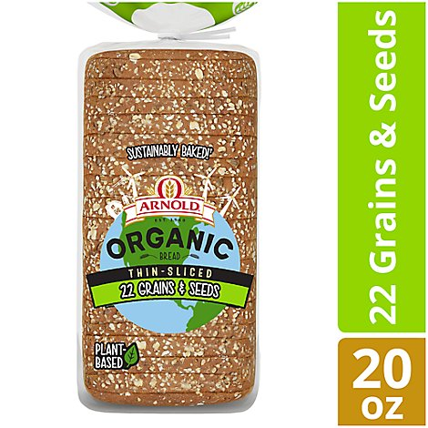 Arnold Organic Bread Non GMO 22 Grains & Seeds Thin Sliced - 20 Oz