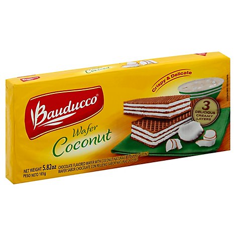 Bauducco Wafer Coconut - 5.82 Oz