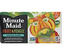 Minute Maid Fruit & Veggie Tropical Blend - 8-6 Fl. Oz.