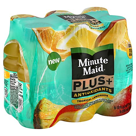 Minute Maid Plus Antioxidants Tropical Lemonade Bottles - 6-10 Fl. Oz.