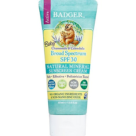 Badger Spf 30 Baby Sun Screen - 2.9 Oz