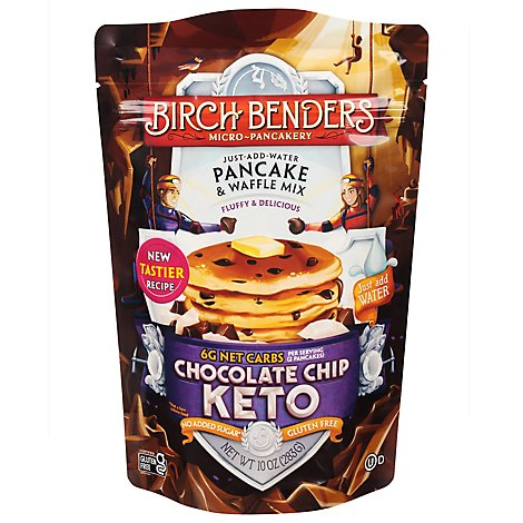 Birch Benders Pancake & Waffle Mix Chocolate Chip Keto - 10 Oz
