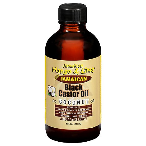 Jamaican Mango & Lime Black Castor Oil With Coconut - 4 Fl. Oz.