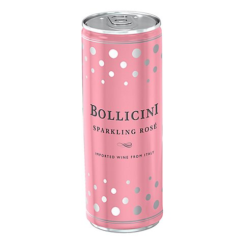 Bollicini Sparkling Rose Can Wine - 4-250 Ml