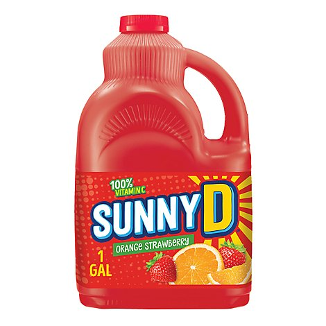 Sunny D Orange Fused Strwbry - 1 Gal