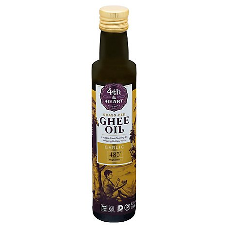 4th Heart Oil Ghee Garlic Pourable - 8.5 Fl. Oz.