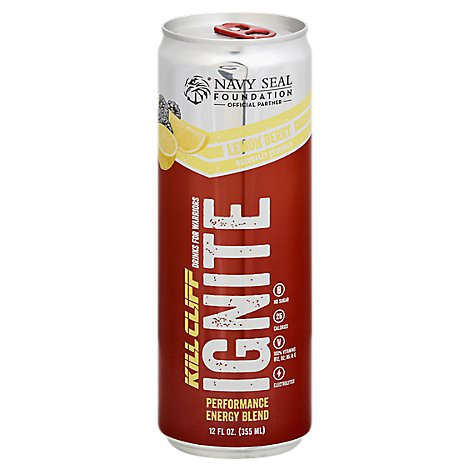 Kill Clif Drink Ignite Lemon Berry - 12 Fl. Oz.