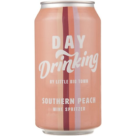 Day Drinking Southern Peach Spritzer Can Wine - 375 Ml