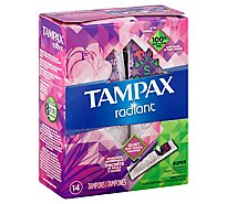 Tampax Radiant Tampons Super Absorbency Unscented - 14 Count