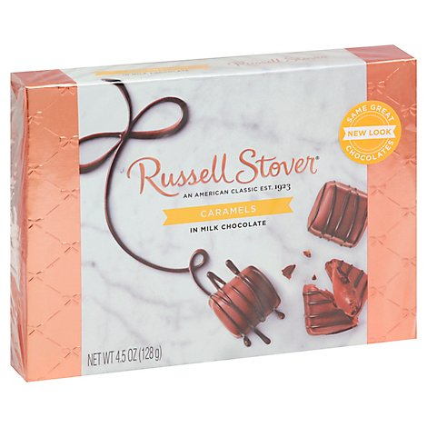 Russell Stover Caramels In Milk Chocolate - 4.5 Oz