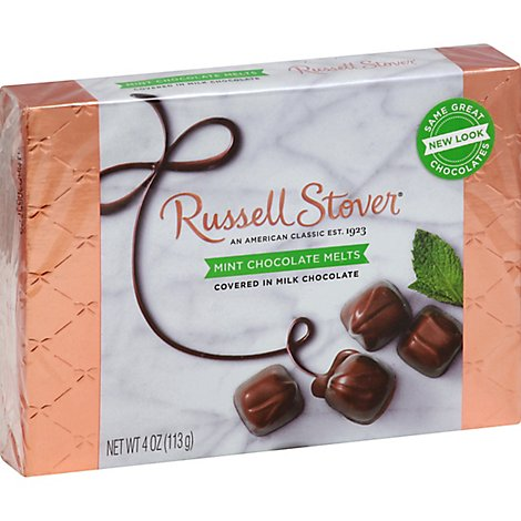 Russell Stover Chocolate Melts Mint In Dark Chocolate - 4 Oz