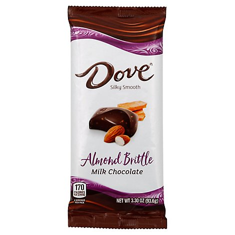 Dove Milk Chocolate Almond Brittle Bar 3.30 Oz