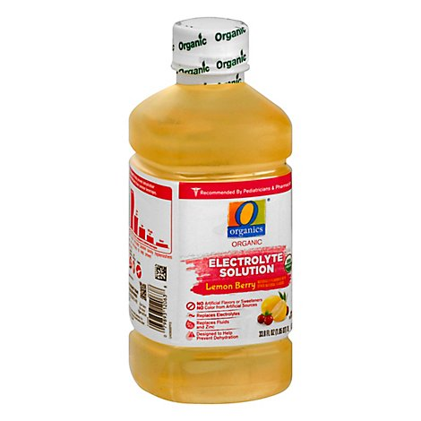 O Organics Organic Electrolyte Solution Lemon Berry - 1 Liter