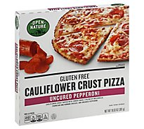Open Nature Pizza Cauliflower Crust Uncured Pepperoni Gluten Free Frozen - 10.63 Oz