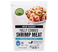 Open Nature Shrimp Meat Cooked Wild - 1 Lb