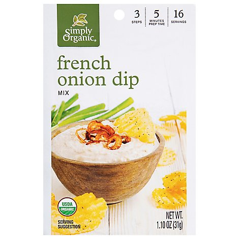Simply Organic Dip Mix Frnch Onion - 1.10 Oz