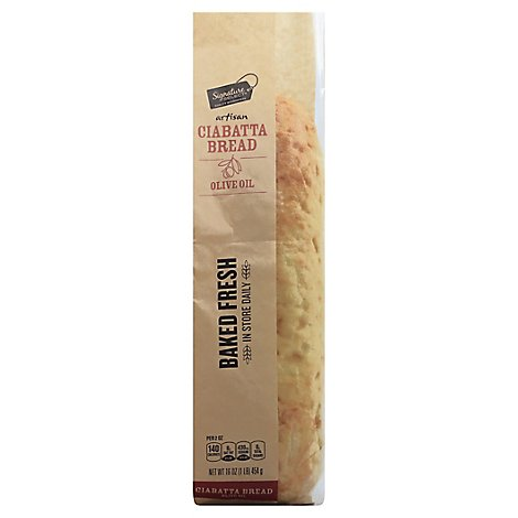 Signature Select Loaf Ciabatta Olive Oil - 16 Oz