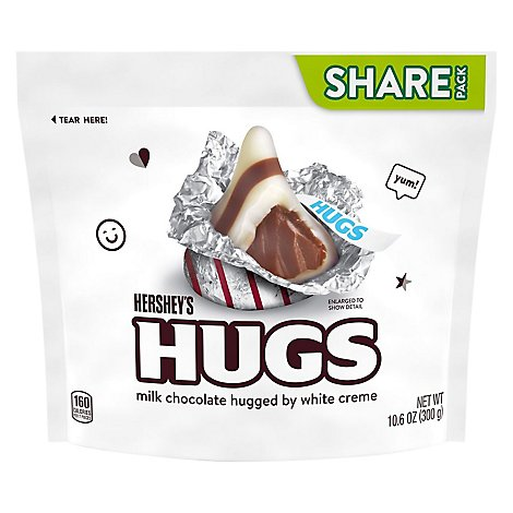 HERSHEYS Hugs Milk Chocolate White Crme Share Pack - 11 Oz