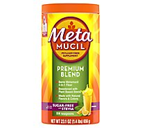 Metamucil Fiber Supplement Premium Blend Powder Orange Sugar Free With Stevia - 23.1 Oz