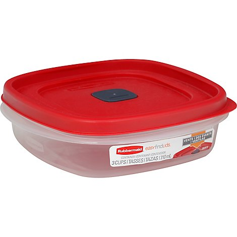 Rubbermaid Easy Find Lid Vented Container 3 Cup - Each