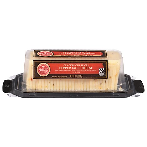 Primo Taglio Cheese Pepper Jack Cracker Cuts - 10 Oz