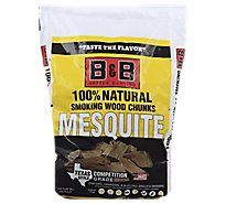 B&B Mesquite Bbq Wood Chunks - Each