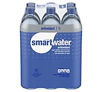 smartwater Antioxidant Vapor Distilled Water - 6-33.8 Fl. Oz.