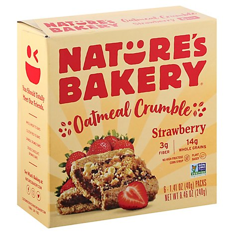 Natures Bakery Oatmeal Crumble Strawberry - 6-1.4 Oz